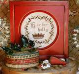 Click for more details of H is for Holly (cross stitch) by Heartstring Samplery