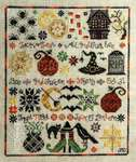 Click for more details of Halloween Sampler (cross stitch) by Jeannette Douglas