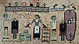 Click for more details of Halloween Shop  (cross stitch) by Fairy Wool in The Wood