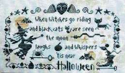 Click for more details of Halloween (the moon laughs) (cross stitch) by Barbara Ana Designs