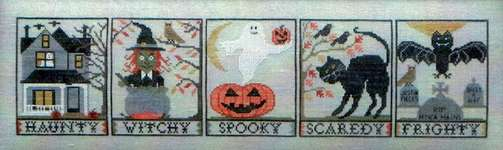 Click for more details of Halloween with a Y (cross stitch) by Blue Ribbon Designs