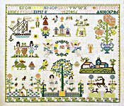 Click for more details of Hamburg 1746 Sampler (cross-stitch) by Permin of Copenhagen