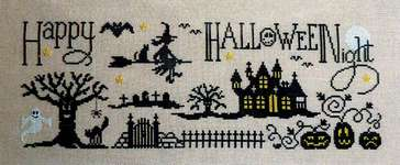 Click for more details of Happy Halloween Night (cross stitch) by Jardin Prive