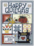 Click for more details of Happy Quilting (cross-stitch pattern) by Sue Hillis Designs