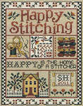 Click for more details of Happy Stitching (cross-stitch pattern) by Sue Hillis Designs