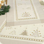 Hardanger 30 - Christmas Trees Table Toppers