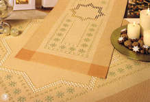 Click for more details of Hardanger 40 Large and Small Christmas Stars Table Toppers (hardanger pattern) by Rico Design