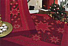 Click for more details of Hardanger 41 - Christmas Stars Table Toppers (hardanger pattern) by Rico Design