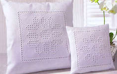Click for more details of Hardanger 46 - White Asters (hardanger) by Rico Design