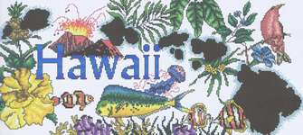 Click for more details of Hawaii Life (cross-stitch) by Vickery Collection