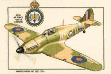 Click for more details of Hawker Hurricane (cross-stitch kit) by Dave Shaw