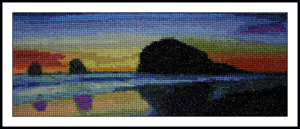 Click for more details of Haystack Shadow (cross stitch) by Mary Gaines