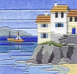 Click for more details of Headland Cottages (long-stitch) by Rose Swalwell