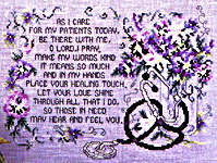 Click for more details of Health Care Professional's Prayer (cross-stitch) by Stoney Creek