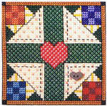 Click for more details of Heart and Home Quilt Blocks (cross-stitch pattern) by Jeremiah Junction