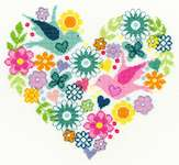 Click for more details of Heart Bouquet (cross-stitch kit) by Bothy Threads