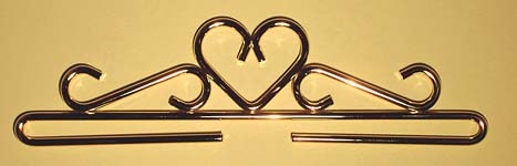 Click for more details of Heart Brass Hanger (bell pulls) by Permin of Copenhagen