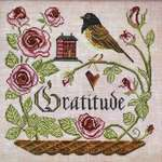 Click for more details of Heart Full of Gratitude (cross stitch) by Cottage Garden Samplings
