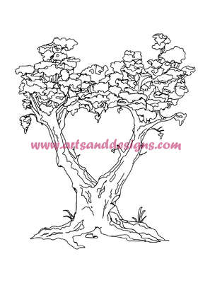 Click for more details of Heart Tree Digital Stamp (digital downloads) by Julie Lynes