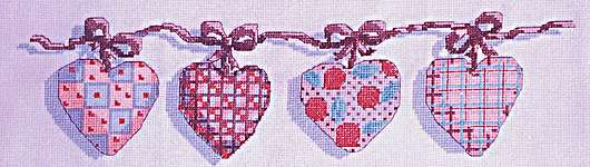 Click for more details of Hearts 4 Hearts Sake (cross-stitch pattern) by Cinnamon Cat