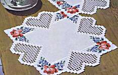 Click for more details of Hearts and Flowers Hardanger Table Mats (hardanger kit) by Permin of Copenhagen