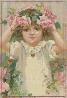 Click for more details of Hearts and Roses (cross-stitch) by The Golden Hoop