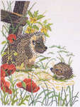 Click for more details of Hedgehogs (cross-stitch) by Eva Rosenstand