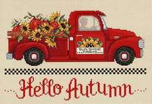Click for more details of Hello Autumn (cross stitch) by Sue Hillis Designs