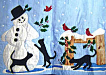 Click for more details of Hello Mr. Snowman Quilt (applique pattern) by Diane Graebner