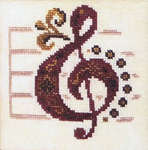 Click for more details of Here Comes Treble and First Bass (cross-stitch pattern) by Ink Circles