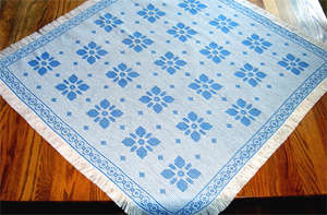 Click for more details of Hibiscus Tablecloth (swedish weaving pattern) by Swedish Weave Designs