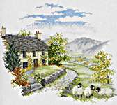 Click for more details of High Hill Farm (cross stitch) by Rose Swalwell
