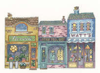 Click for more details of High Street (cross stitch) by Peter Underhill