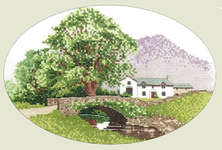 Click for more details of Hill Farm (cross-stitch pattern) by John Clayton
