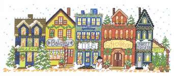 Click for more details of Holiday Main Street (cross-stitch pattern) by Imaginating