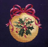 Click for more details of Holly Berry Ornament (tapestry) by Barbara & Cheryl
