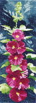 Click for more details of Hollyhocks Panel (cross-stitch kit) by John Clayton