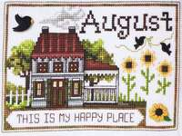 Click for more details of Home of the Month - August (cross stitch) by Stoney Creek