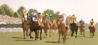 Click for more details of Horse Racing (cross-stitch pattern) by John Clayton