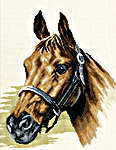 Click for more details of Horse's Head (cross-stitch kit) by Lanarte