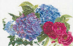 Click for more details of Hydrangea and Rose (cross stitch) by Thea Gouverneur