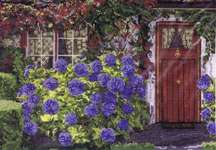 Click for more details of Hydrangea Cottage (cross-stitch pattern) by Pegasus