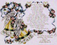 Click for more details of I Corinthians 13 Wedding Bells (cross-stitch pattern) by Stoney Creek