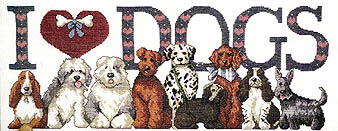 Click for more details of I Love Dogs I (cross-stitch) by Jeremiah Junction