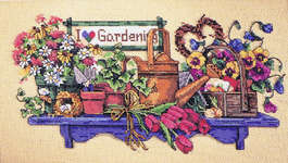 Click for more details of I love Gardening (cross-stitch pattern) by Dimensions