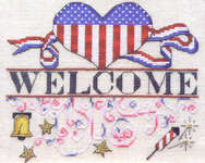 Click for more details of Independence Day Welcome (cross-stitch pattern) by MarNic Designs