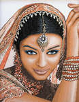 Click for more details of Indian Model (cross-stitch kit) by Lanarte