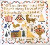 Click for more details of Instead of Sheep (cross stitch) by Heartstring Samplery