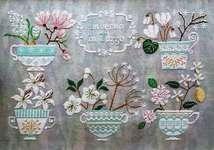 Click for more details of Inverno In Tazza (Winter in Teacups) (cross stitch) by Cuore e Batticuore