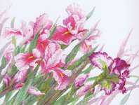 Click for more details of Irises (cross-stitch) by Riolis